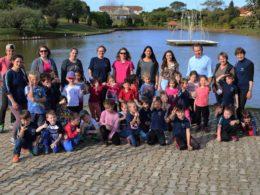 Alunos da EMEI Felipe Alflen da cidade de Victor Graeff visitaram o Parque da Lagoa