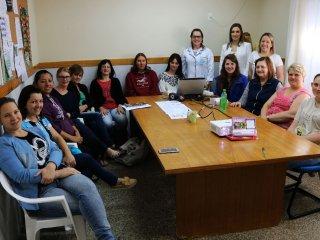 Profissionais da Saúde orientaram professores da Escola EMEI Rainha