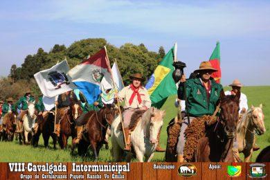 VIII Cavalgada Intermunicipal do Grupo de Cavalarianos do Piquete Racho Vô Emílio