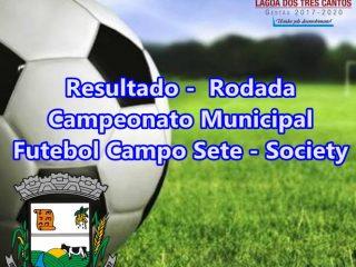 RESULTADO 10ª RODADA MUNICIPAL FUTEBOL SETE-SOCIETY – MATA-MATA