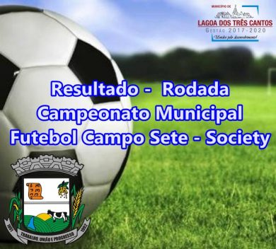 RESULTADO 3ª RODADA MUNICIPAL FUTEBOL SETE-SOCIETY