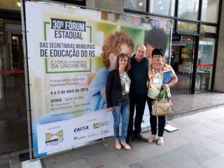 Município esteve participando do 30º Fórum Estadual das Secretarias Municipais de Educação