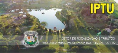 Lagoa dos Três Cantos lança seu carnê de IPTU para 2019