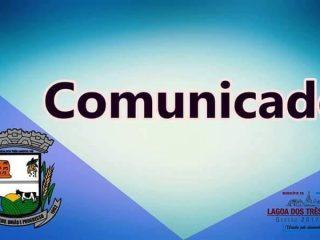 COMUNICADO – RECOLHIMENTO DE LIXO NA ÁREA URBANA