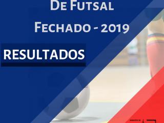 RESULTADO 8ª RODADA MUNICIPAL FUTSAL FECHADO 2019.