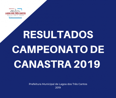 RESULTADO DA 6ª RODADA CAMPEONATO CANASTRA/2019 MASCULINA
