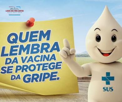 INSCRIÇÕES PARA VACINA DA GRIPE ENCERRAM NO DIA 14/02