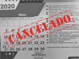 EVENTOS DO MÊS DE MAIO ESTÃO CANCELADOS NO MUNICÍPIO