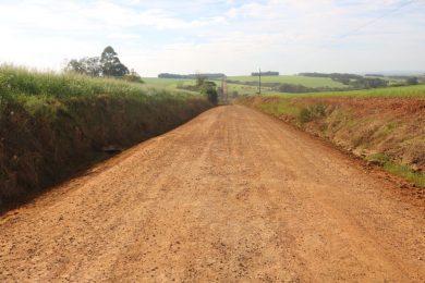 Melhorias realizadas nas estradas do interior do município
