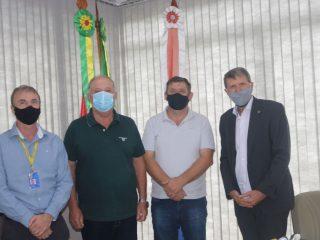 Superintendência do Banco do Brasil visita prefeito Sergio Lasch