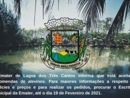 Comunicado importante da Emater de Lagoa dos Três Cantos
