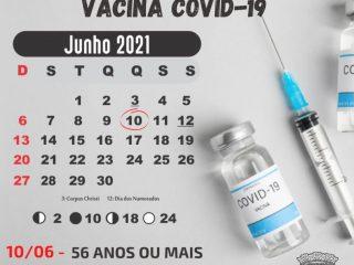 Quinta-feira (10) tem vacina contra Covid em Lagoa dos Três Cantos