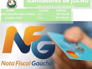 Ganhadores do Programa Nota Fiscal Gaúcha