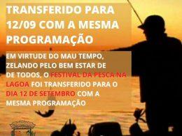 4º Festival da Pesca na Lagoa foi transferido para 12 de setembro